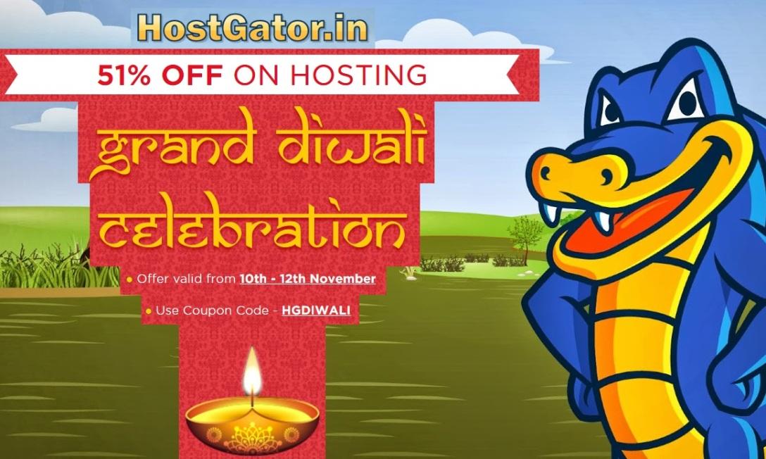 Hostgator India Diwali Offer 51 percent off