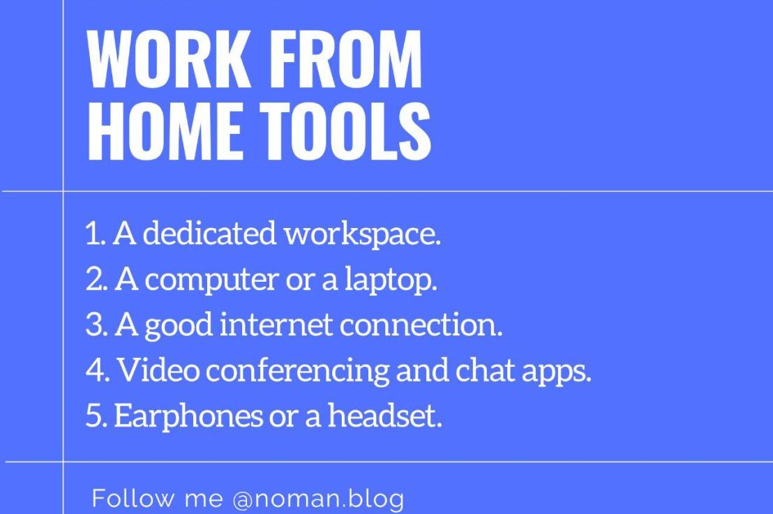 An Essential List of Work From Home Tools